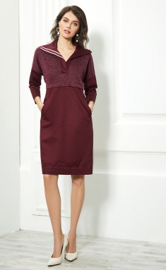 Dress AYZE 1743 bordo