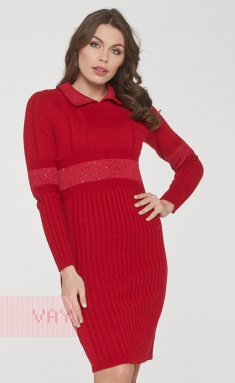 Dress Newvay 182-2356 krasn/pajetki krasn