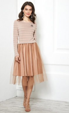 Dress AYZE 1820 bezhevyj