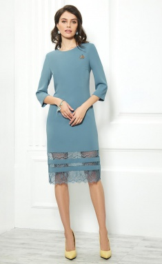 Dress AYZE 1840 lazurno-seryj