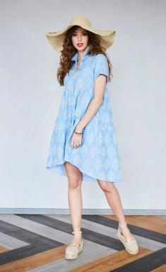 Dress Noche Mio 1.524-3 TEAL-3