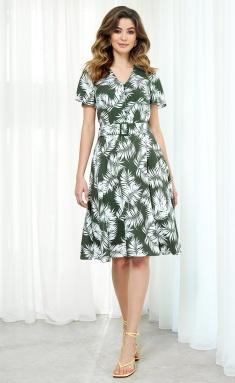 Dress AYZE 2023 zeleno-belyj