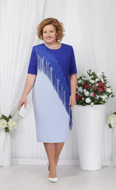 Dress Ninele 2152 goluboj+vasilek