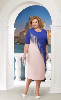 Dress Ninele 2152 pudra+vasilek
