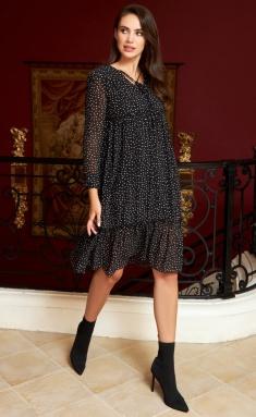 Dress AYZE 2153 cherno-belyj