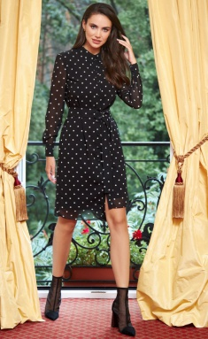 Dress AYZE 2174 cherno-belyj