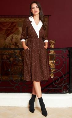 Dress AYZE 2192 korichnevyj