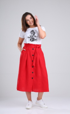 Skirt MALI 221-028 krasnyj