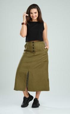 Skirt MALI 221-043 xaki