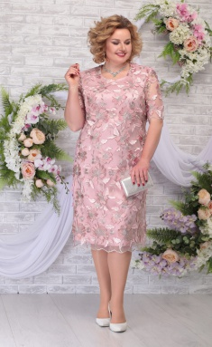 Dress Ninele 2239 pudr + pudr