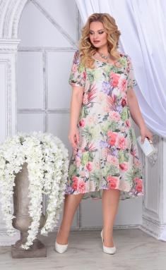 Dress Ninele 2294 zelenye rozy