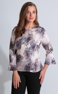 Blouse Golden Valley 26418 bezhevo-serenevyj