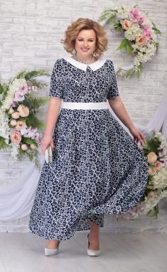 Dress Ninele 295 sinie romashki