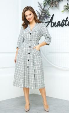 Dress Anastasia 527 sero-olivk