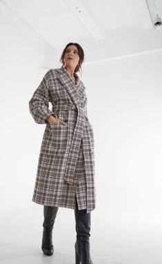 Coat MALI 521-101 kletka bezh