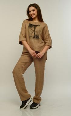 Trousers MALI 321-040 kapuchino