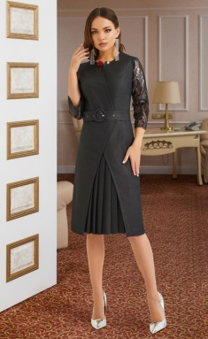 Dress Lissana 3874 temn.grafit