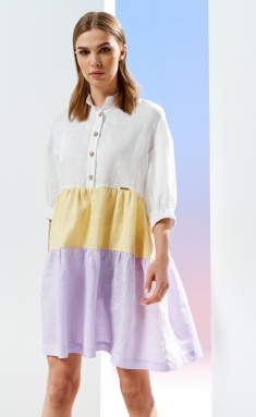 Dress Prestige 3902/170 zhelto-sirenevyj