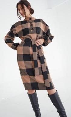 Dress MALI 421-067 kletka bezh