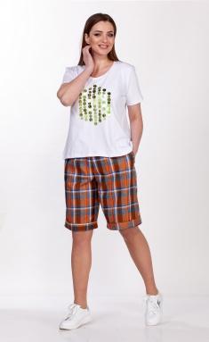 Shorts Belinga 4046 oranzh/kletka