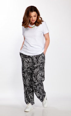 Trousers Belinga 4058 chernyj print