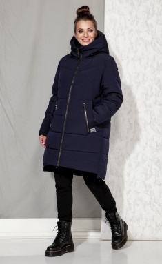 Coat Beautiful & Free 4064 tyomno-sinij
