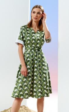 Dress Prestige 4110/170 belye zelenyj