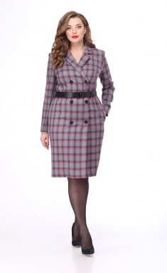 Dress MALI 4118 ser/roz kl