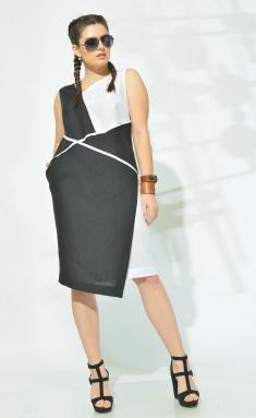 Dress MALI 419-003 chern/bel