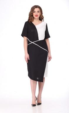 Dress MALI 419-025 chern/bel