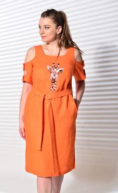 Dress MALI 419-028 oranzhevyj