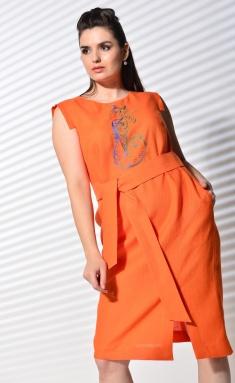 Dress MALI 420-054 oranzhevyj