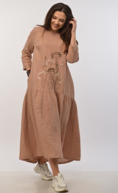 Dress MALI 421-015 konyak