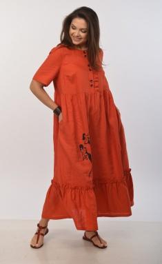 Dress MALI 421-023 terrakot