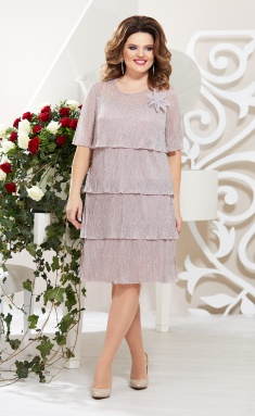 Dress Mira Fashion 4389-8 pudr