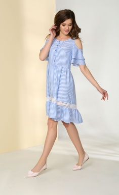 Dress Golden Valley 4391 bel s golubym
