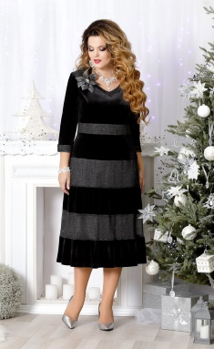 Dress Mira Fashion 4506 chern