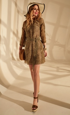 Dress Golden Valley 4663 leopard