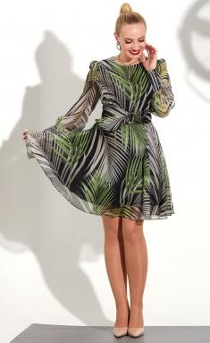 Dress Golden Valley 4708 cherno-zelen