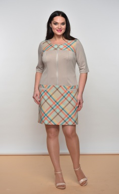 Dress Lady Style Classic Outlet 498 bezh