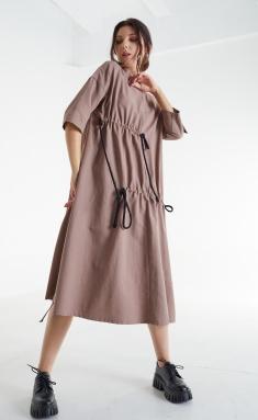 Dress MALI 421-057 kofe