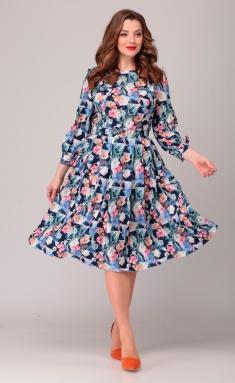 Dress Asolia 2369 romb s cvetami