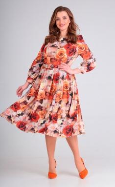 Dress Asolia 2369/5 zhelt rozy