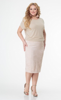 Skirt BelElStyle 536 pudra