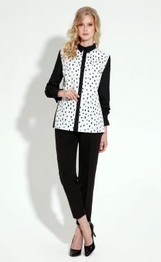 Blouse Panda 5540z belo-chern