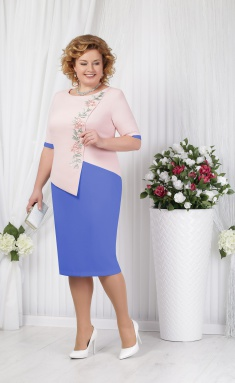 Dress Ninele 5619 vasilek+pudra