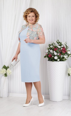 Dress Ninele 5621 goluboj
