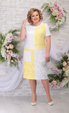Dress Ninele 5774 bel/zhelt