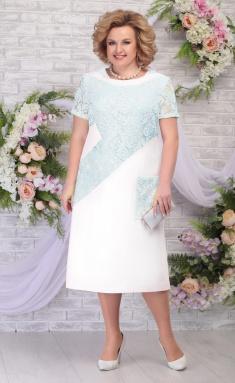 Dress Ninele 5810 moloko + svetlo-zel