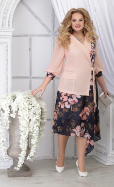 Dress Ninele 5821 pudr + cv